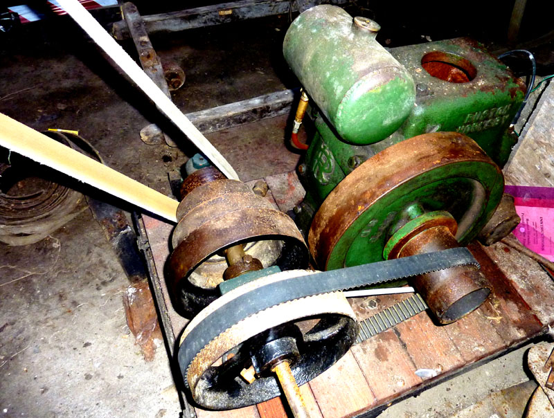 2HP Ruston Hornsby & pulley speed reducer