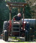 ...and he delivers. Phil used his Massey Ferguson to bring us the engine