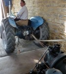 Ian Morgan brought us his Ford Dexta tractor, with a pulley belt drive