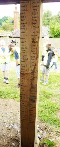 All the children and staff signed the post they bought
