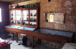 New display cabinets - a gift from Crewkerne Museum