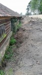 cleared and reprofiled bank with buried drain