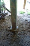 Repaired posts on new foundation