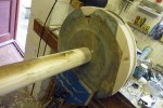 Tensioning pulley restored